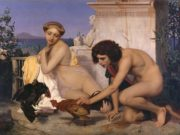 "Жан-Леон Жером (Jean-Leon Gerome) ""Young Greeks Attending a Cock Fight"""