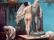 "Жан-Леон Жером (Jean-Leon Gerome) ""The end of the pose"""