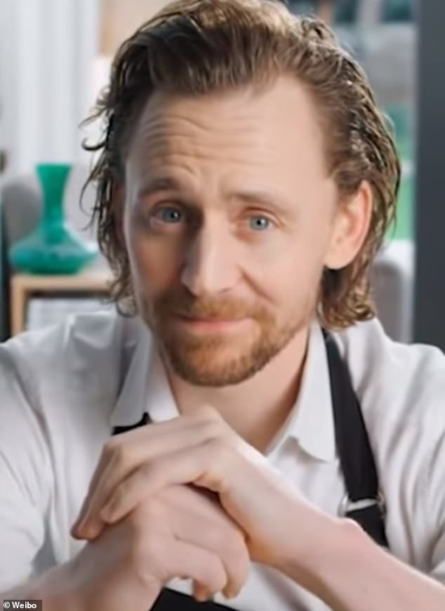 Tom Hiddleston has followed in the footsteps of Nicolas Cage and Arnold Schwarzenegger by starring in a new Asian TV commercial which appears on Chinese TV network Weibo