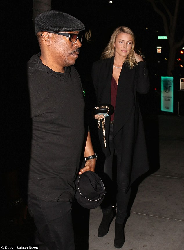 Get together: Eddie Murphy and his longtime girlfriend Paige Butcher joined his friends for dinner at Maestro