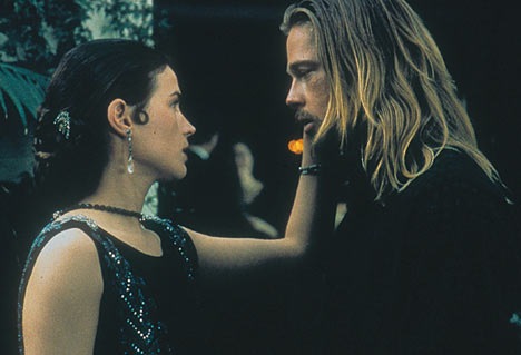 Julia Ormond and Brad Pitt in Legends of the Fall