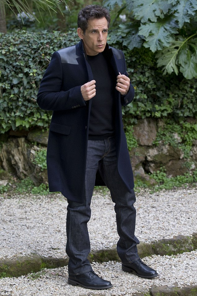 In character: Ben Stiller stepped out in Rome on Saturday afternoon, where he posed like Derek Zoolander