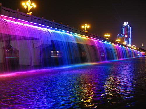 "Мост ""Фонтан радуги"" (Banpo Bridge)"