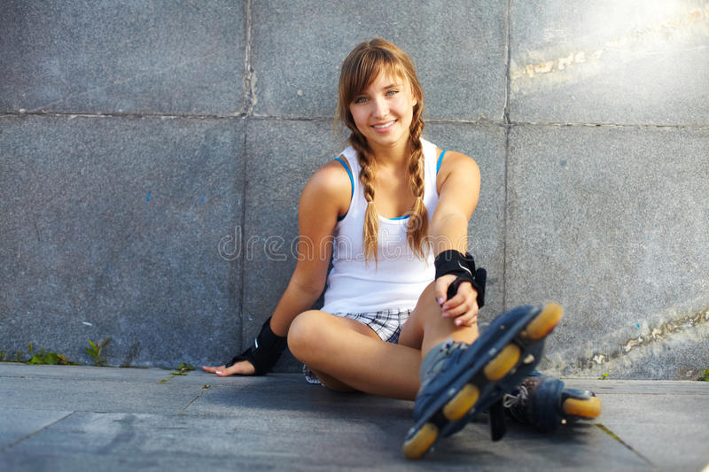 Pretty teenager royalty free stock photo