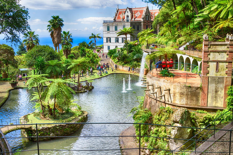 Scenic of Monte Palace Tropical Garden. Funchal, Madeira Island, Portugal stock photo