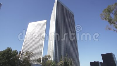 Wide  shot of the avenue downtown Los Angeles stock video