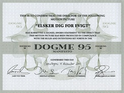 Dogme 95 Certificate for Susanne Bier